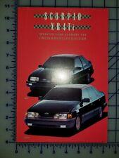 1988 Ford Merkur XR4Ti Scorpio Brochure
