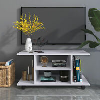 HOMCOM Modern TV Stand Entertainment Center Storage Console Mobile Cabinet