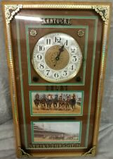 WoW 1991 Kentucky Derby Danbury Strike the gold picture wall clock By Ray McFall