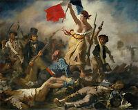 Eugene Delacroix Liberty Leading People France Painting Fine Art Canvas Print