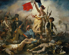 Eugene Delacroix Liberty Leading People France Painting Fine Art Canvas Print