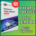 BITDEFENDER TOTAL SECURITY 2021  4 YEARS 1 DEVICE ACTIVATION - GLOBAL GENUINE
