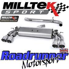 """Milltek Audi S3 8 V 3-Portes D'échappement 3"""" Cat Back Non Resonated Titane GT SSXAU394"""