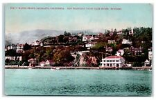 Early 1900s Sausalito, CA Waterfront and San Francisco Yacht Club Postcard