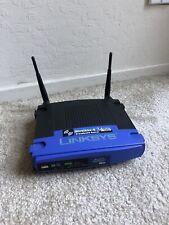 Linksys Wireless-G WRT54G Broadband WiFi Router 2.4 GHz  5.4 GHz No Cords