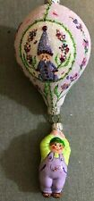 Patricia Breen Ornament - Miniature Balloon Boy. Lavender. Bejeweled. Catz Excl.