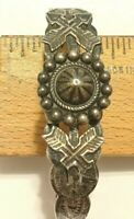 VINTAGE CUFF BRACELET SOUTHWESTERN REPAIR SIGNED SILVER PRODUCTS COIN SILVER