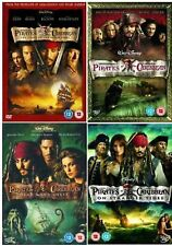 Pirates of the Caribbean Complete 1 2 3 4 DVD Collection 1 - 4 NEW UK R2 DVD