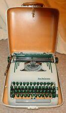SMITH CORONA 1950'S PORTABLE SILENT-SUPER TYPEWRITER GREEN KEYS WITH CASE & KEY