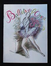 Vintage Ballet de l'Opera de Paris souvenir program circa 1948
