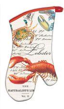 Michel Design Works Cotton Kitchen Oven Mitt Lobster & Crabs Seafood - NEW