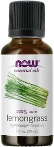 NOW 100% Pure Lemongrass Essential Oil 1 oz 30 ml, Clearance for stained bottle