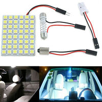48 SMD 5050 LED White Car Interior Light Lamp Panel T10 Festoon Dome BA9S 12V