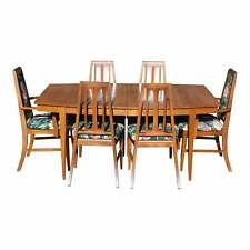 Vintage Mid Century Modern Walnut Dining Set Dining Table & 6 Chairs