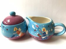 WHITTARD OF CHELSEA Cool Yule 2002 Fairy SHIMMER SPARKLE Tea Sugar Bowl Milk Jug