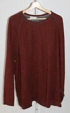 TOMMY BAHAMA Mens Reversible Top Shirt Long Sleeve Pullover Crew Red Gray Est XL