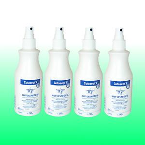 Cutasept F Set 4x 250ml Hautdesinfektion farblos Antiseptikum Sprühkopf