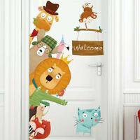 Safari Animals Kids Wall Art Sticker Baby Vinyl Decal Nursery Decor Mural Gift