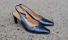 Salvatore Ferragamo Black Snakeskin Pattern Gancini High Heels sz 6.5 B US
