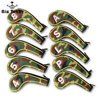 Camo Flag Golf Iron Covers Zipper Headcover for Taylormade Ping Callaway Mizuno
