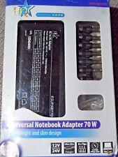 Adaptador Universal 70w Notebook/Laptop, en caja con una amplia gama de conectores de salida