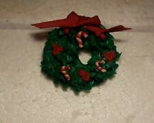 Doll House Miniature Holiday Door Wreath 1:12