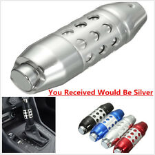 Silver Aluminum Automatic Car Gear Stick Gearstick Shift Shifter Lever Knob