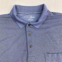 Grand Slam Golf Polo Shirt Men's Size 3X Short Sleeve Blue Navy Striped Casual