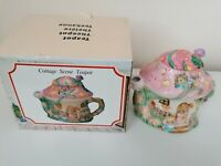 Collectable vintage teapots COTTAGE SCENE TEAPOT Home Decor Accessories VGC BIN