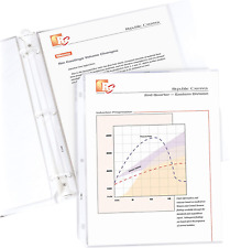 C Line Top Loading Standard Weight Poly Sheet Protectors Clear 85 X 11 Inches
