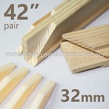 "42"" Pre-made 32mm Stretcher Bars (pair) - 32mm x 38mm - incl 4 corner wedge keys"