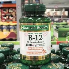 nature's Bounty Vitamina b-12 B12 Metilcobalamina 300 RÁPIDO disolver PASTILLAS