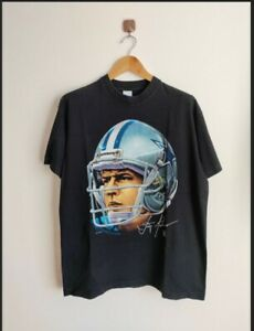 Rare Vintage Troy Aikman Big Face 90's T-shirts NFL Football Dallas cowboy