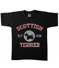 Kinder T-Shirt Hunde Scottish Terrier Hund Dog Welpe Rasse Haustier Tier 17431