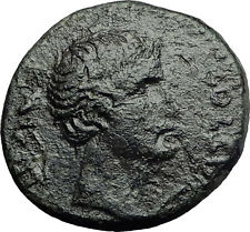 AUGUSTUS 27BC Thessalonica Macedonia Wreath Authentic Ancient Roman Coin i58267