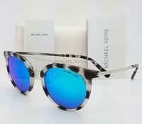 New Michael Kors sunglasses MK2056 327525 50mm Silver Blue Round MK 2056 Ila
