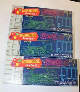LOT OF 3 ROUNDHOUSE HO SCALE C&O Hi Cube Car 1769 PRR Express Refer 3605