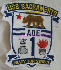 PUS378 - US NAVY USS SACRAMENTO AOE-1 PATCH