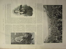 1898 PRINT ~ CORONATION OF THE GIPSY KING AT YETHOLM VARDON GOLD CHAMPION