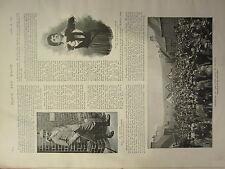 1898 PRINT ~ CORONATION OF THE GIPSY KING AT YETHOLM VARDON GOLD CHAMPION