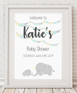 Personalised Baby Shower Welcome Sign Poster Print A4 PR84