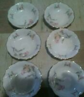 Edelstein bavaria maria theresia soup bowls lot of 6 small bowls...5/1/8 inches