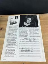 1988 Vintage 1Pg Print Article Bass Lines Guitar Flotsam And Jetsam Troy Gregory