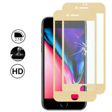 2 Protection Film Screen Tempered Glass Curved Edge YELLOW Apple iPhone 8 Plus