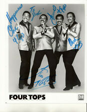 THE FOUR TOPS - MOTOWN SINGING GROUP -=4=- ALL HAND SIGNED AUTOGRAPHED PHOTO