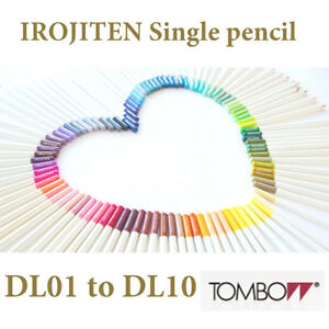 Tombow Irojiten Single Colour Pencil DL 01 to DL 10