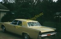 Lincoln Continental 1960s 35mm Slide Kodachrome Vtg Car Driveway
