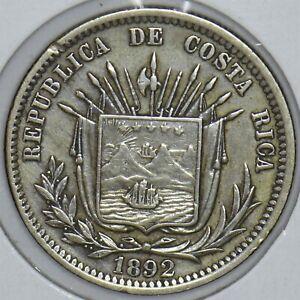 Costa Rica 1892 25 Centavos 290730 combine shipping