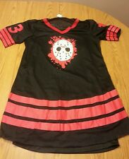 Licensed miss jason voorhees sexy dress friday the 13th adult slip jersey mini