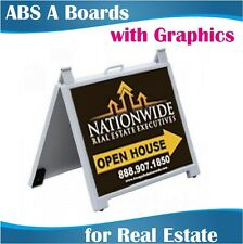 Real Estate ABS A-Boards A-Frames Signs 48x63cm with Graphic